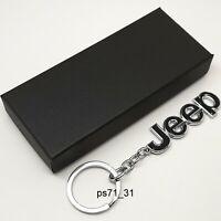 Jeep Cars Black Metal Keychain Car Key Ring Chain Auto Keyring Pendant Wrangler
