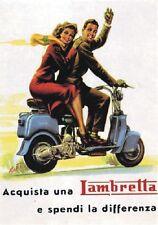 """TARGA VINTAGE """"LAMBRETTA"""" Pubblicità, Scooter Advertising, Poster, Retro Plate"""