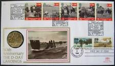 More details for 1994 benham d-day/uss normandy 50p coin fdc. very fine.