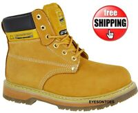 SAFETY MENS LEATHER ANKLE NEW STEEL TOE CAP BOOTS WORK TRAINERS SHOES SIZES 6-13