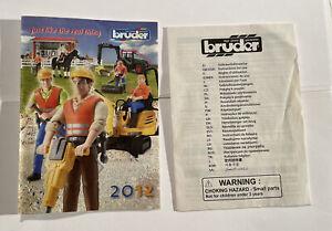 Bruder 2012 Toys Original Toy Catalog & Warning Book Farm, Trucks, Construction