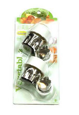 Japanese Stainless Steel Set of 4 Vegetable Fruit Bento Box Press Cutters Mold