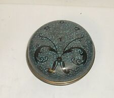 Rare Chinese Cloisonne Turquoise And Black Color Enamel Jar Bowl Box