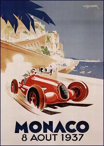 Monaco GP 1937 Race print