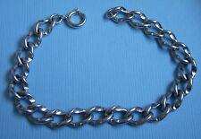 ring clasp sterling charm bracelet Vintage 7¼� single link spring