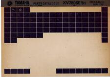 Yamaha XV 750 se' 81_5k4 _ parts Catalogue _ pieza de repuesto-catálogo _ microfich _ extenso _ lista