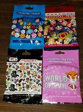 Disney Pin Lot of 4 Mystery Pks 20 Pins World of Evil Star Wars Tsum Tsum