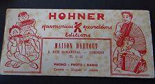 Buvard Harmonica accordéon Maison DARTOUT HOHNER LIMOGES Blotter Löscher