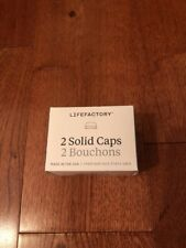 Lifefactory Baby Bottle Flat Cap Set (2 white caps) Rare Limited
