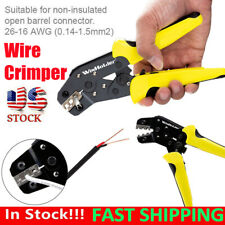 Wire Crimper Plier Non Insulated Cable Connectors Terminal Ratchet Crimping Tool