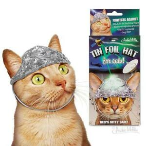 TIN FOIL HAT FOR CATS One Size Fits Most Cats - Archie McPhee