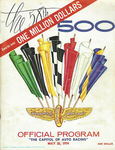 1974 Indy 500 Race Official Program Indianapolis Motor Speedway 5/26/74