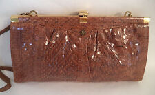 BROWN SNAKESKIN SHOULDER OR CLUTCH BAG HANDBAG FRAME