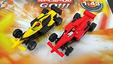 Carrera Go TOP CARS 2x Auto Formel 1 mit Stickern Sonderaktion NEU 1:43