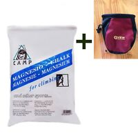 GYM FITNESS SPORTS CHALK - MAGNESIUM CARBONATE with Climbing bag