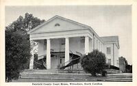 B49/ Winnsboro South Carolina SC Postcard c1940 Fairfield County Court House