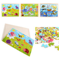 Wooden Puzzle Jigsaw 60 Pieces Blocks Kids Childrens Educational Learning Toys