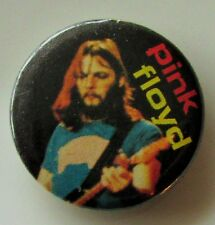 PINK FLOYD DAVE GILMOUR OLD METAL BUTTON BADGE FROM THE 1980's VINTAGE RETRO