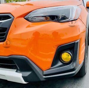 For 2018-2021 Subaru Crosstrek XV YELLOW Fog light Overlay Tint Precut Vinyl