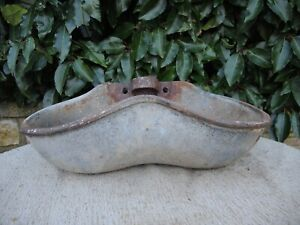Vintage Double Galvanised Water Drinker Garden Planter Wall Planter (1203)