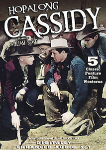 Hopalong Cassidy: 5 classic feature film westerns (DVD, ) New Sealed