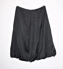 Veronika Maine Designer Black Side Pleated Day Skirt Size 6 #SJ20