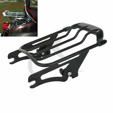 Black Air Wing Two Up Luggage Rack For Harley HD Touring Street Glide 2009-2018