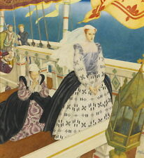 Edmund Dulac Mary Queen of Scots Giclee Canvas Print Paintings Reproduction