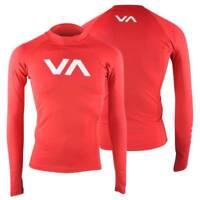 RVCA VA Sport Rashguard Compression Top (Lava Red/White)