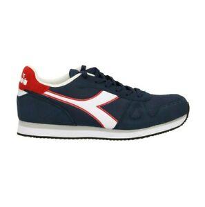 Scarpe uomo Diadora blu rosso sportivo calzature passeggio sneakers stringata