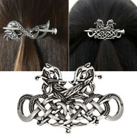 Women Celtics Vintage Metal Knot Hair Clips Slide Stick Hairpin Jewelry Access