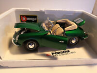 Burago 1/18 Porsche 356 B Cabriolet 1961 grün