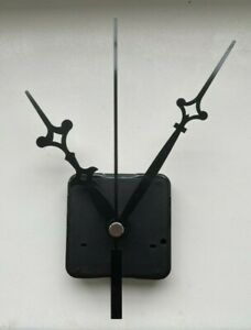Clock Movement - Black Quartz Gothic Sweeping Hands - AA Battery - Mechanism UK