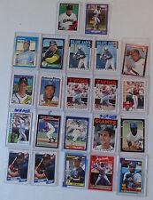 22 MLB 1980's Rookie Cards Lot w Bo Jackson Jose Canseco Ken Griffey Tom Glavine