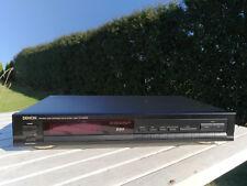 DENON TU-580RD schwarz RDS Radio Tuner 30Pr.speicher Precision Audio Component
