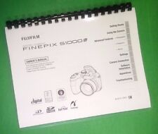 Laser Printed Fujifilm S1000fd Camera FinePix Camera 164 Page Owners Manual Guid