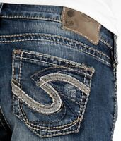 Silver Jeans Super Low Tuesday Distressed Bootcut 25 26 27 28 29 30 31 32 33 34