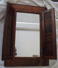 Homco Window Mirror w/Shutters-Wall Hanging-Home Interiors VNTShabby Chic BROWN
