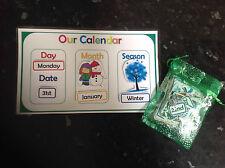 interactive calendar day date month season classroom resources