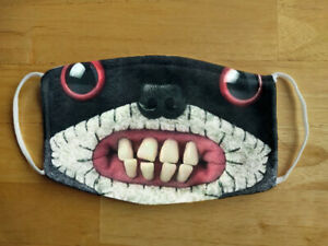 Face Mask Funny Ugly Racoon Monster Reusable Protection Face Cover UK