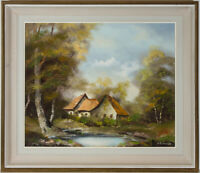 O. Schmidt - Signed Contemporary Oil, Landscape with a Cottage in the Woods