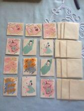 Vintage Flocked Gift Cards