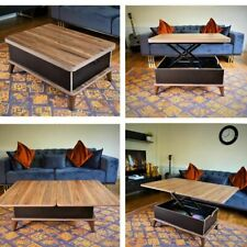 MAGIC WALNUT&BLACK EXTENDABLE COFFEE / DINING TABLE 6 IN 1