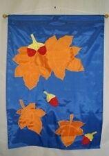 """28x40 Embroidered Sewn Autumn Fall Season Appliqued Nylon Garden Flag 28""""x40"""""""