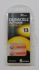 66 x Duracell Activair Hörgerätebatterien 13 Hearing 11 x 6er Blister (2024-09)