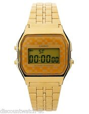 Casio A159WGEA-9 Mens Gold Tone Stainless Steel Digital Watch Vintage Retro NEW
