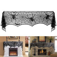 Scary Halloween Spider Lace Table Cloth Cover Door Curtain Window Decorations
