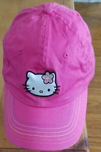 HELLO KITTY by Sanrio Pink Baseball Cap Hat Adjustable to fit Size NEW no TAG