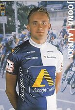 CYCLISME carte cycliste JOONA LAUKKA équipe ACCEPTCARD