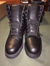 New Colorado Black Leather Safety 8 inch Boots Size Men US-10 Medium Vintage